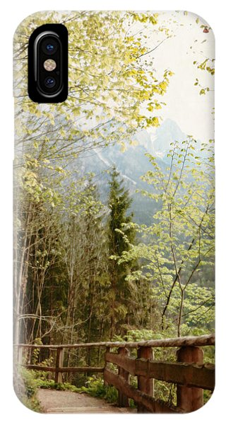 Austrian Woodland Trail And Mountain View IPhone Case