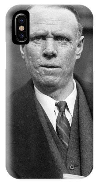 Nobel iPhone Case - Author Sinclair Lewis by Underwood Archives