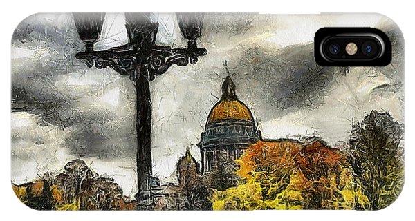 Autum Peterburg IPhone Case