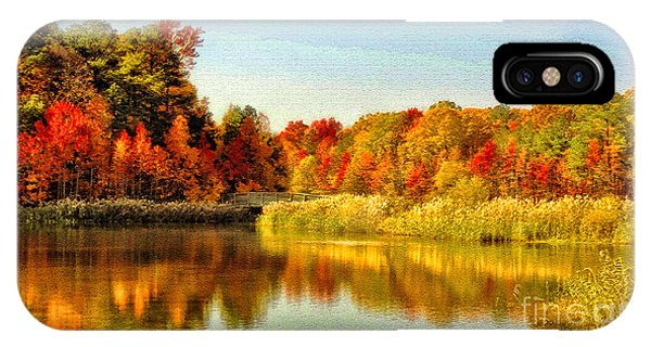 IPhone Case featuring the photograph Autumn Ablaze by Ola Allen