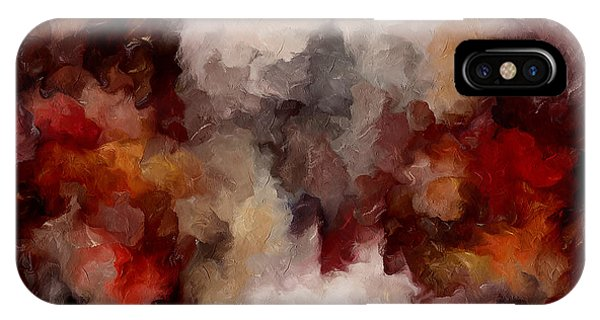 Abstract Expression iPhone Case - Autumn Abstract by Isabella Howard