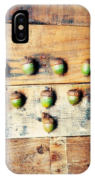 Autumn iPhone X Case - Autumn Acorns by Kim Fearheiley