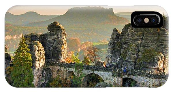 Autumn Afternoon On The Bastei Bridge IPhone Case