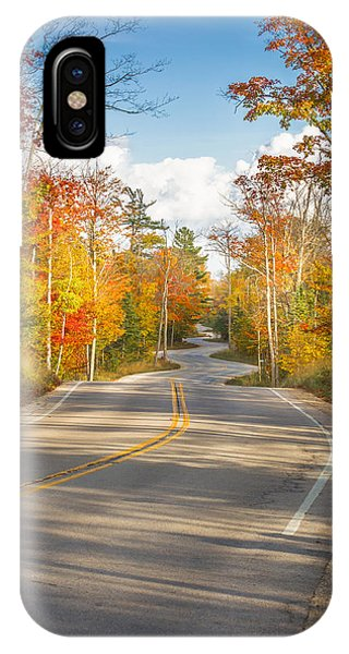 Autumn Afternoon On The Winding Road IPhone Case