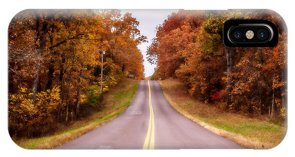 Autumn Along The Rural Road IPhone Case