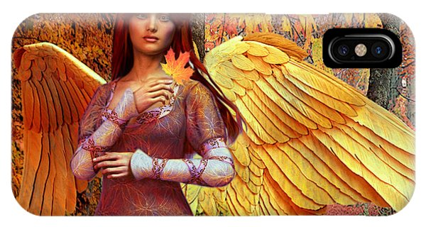 Autumn Angel 2 IPhone Case