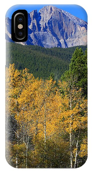 Autumn Aspens And Longs Peak IPhone Case