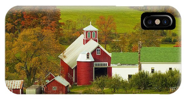 Autumn At Bogie Mountain Dairy Farm IPhone Case