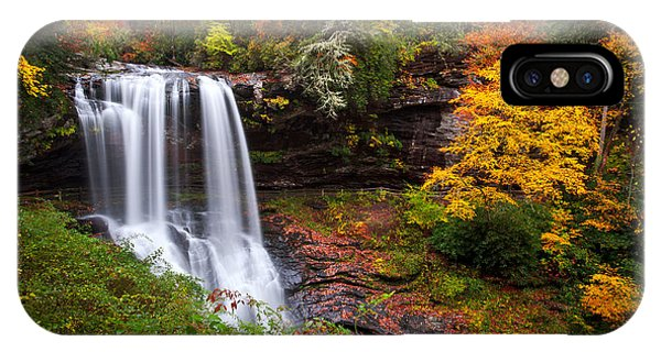 Nc iPhone Case - Autumn At Dry Falls - Highlands Nc Waterfalls by Dave Allen