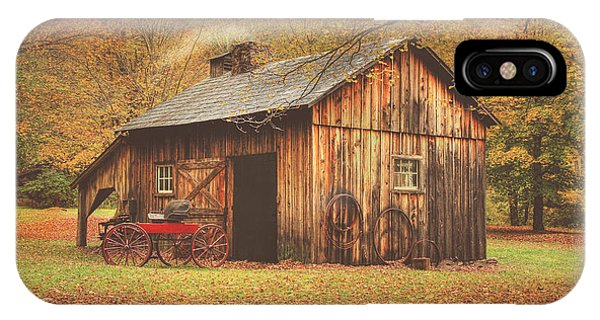 Autumn At Millbrook Village -the Blacksmith Shop IPhone Case