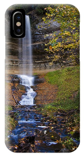 Autumn At Munising Falls IPhone Case