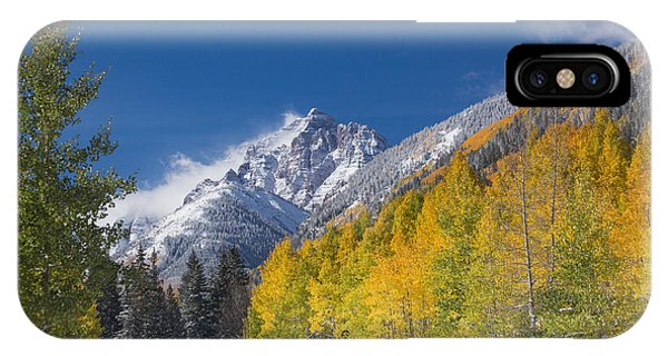 Fourteener iPhone Case - Autumn At Pyramid Peak Following A Passing Storm  by Bridget Calip