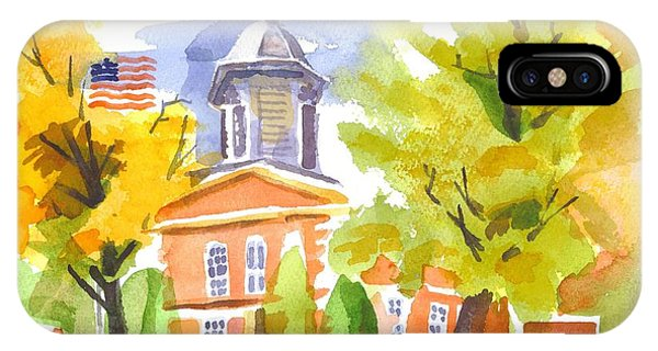 Autumn At The Courthouse IPhone Case