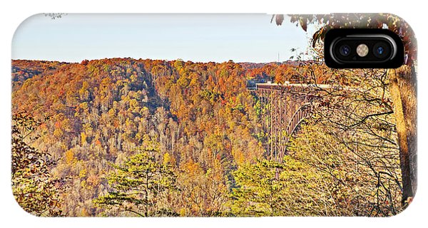 Autumn At The New River Gorge Single-span Arch Bridge IPhone Case