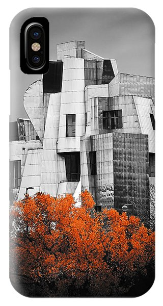 Gehry iPhone Case - autumn at the Weisman by Matthew Blum