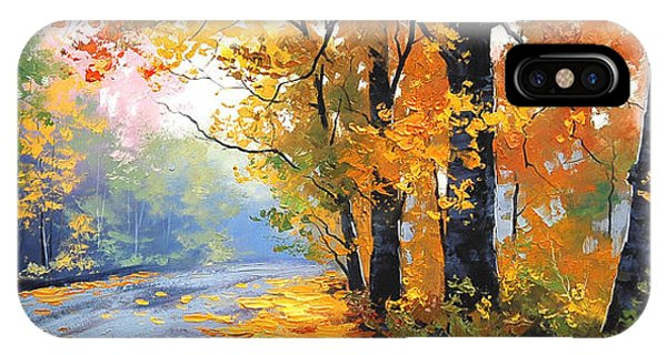 Amber iPhone Case - Autumn Backlight by Graham Gercken