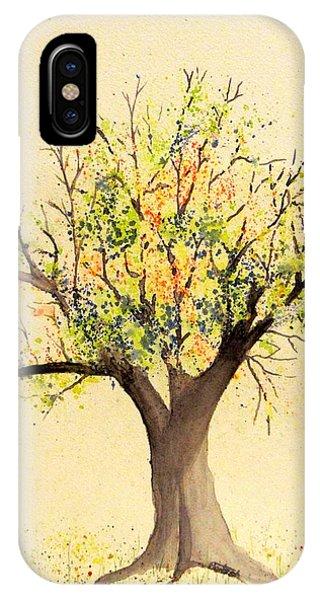 Autumn Backyard Tree IPhone Case