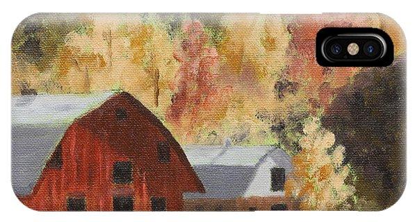 Autumn Barn Duo IPhone Case