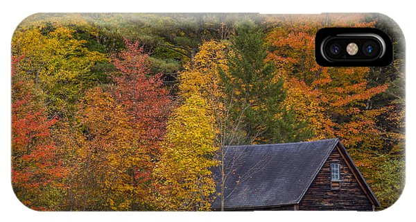New England Barn iPhone Case - Autumn Barn In Easton by Chris Whiton
