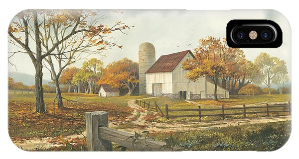 Barn iPhone Case - Autumn Barn by Michael Humphries