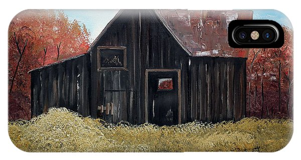 Autumn - Barn -orange IPhone Case