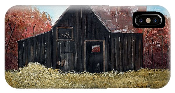 Autumn - Barn -orange IPhone Case