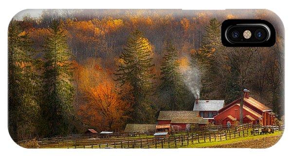 Autumn - Barn - The End Of A Season IPhone Case