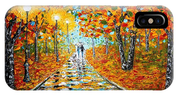 Autumn Beauty Original Palette Knife Painting IPhone Case