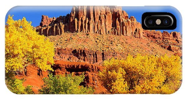 Autumn Beneath The Castle IPhone Case