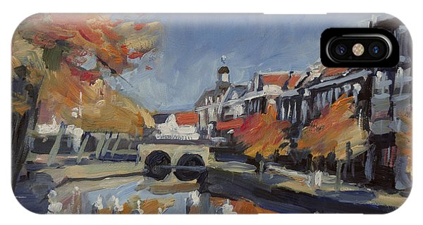 Briex iPhone Case - Autumn Canal Leiden by Nop Briex
