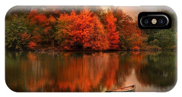 Autumn Canoe IPhone Case