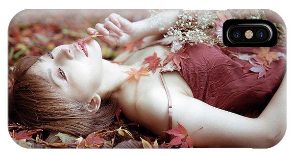 Outside iPhone Case - Autumn Color by Kazuhiko Kihara