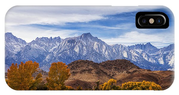 Autumn Colors And Mount Whitney IPhone Case