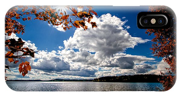 IPhone Case featuring the photograph Autumn  Confidential  by Bob Orsillo