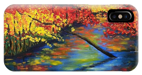 Autumn Crossing The River IPhone Case