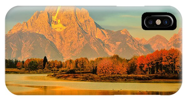 Autumn Dawn At Oxbow Bend IPhone Case