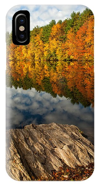 New England Fall Foliage iPhone Case - Autumn Day by Karol Livote