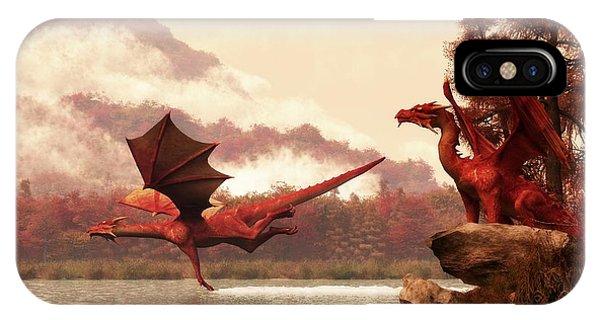 Dungeon iPhone Case - Autumn Dragons by Daniel Eskridge