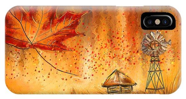 Autumn Dreams- Autumn Impressionism Paintings IPhone Case