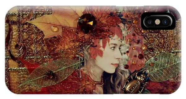 Autumn Dryad Collage Phone Case by Maureen Tillman