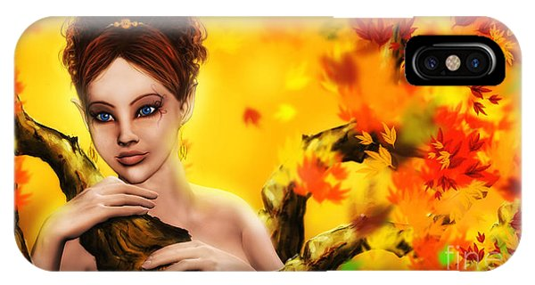 Autumn Elf Princess IPhone Case