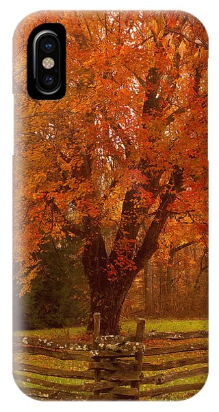 Autumn Fences Smoky Mountain National Park IPhone Case