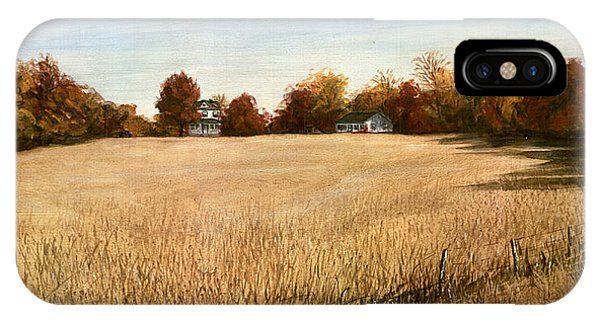 Autumn Field Southern Maryland IPhone Case