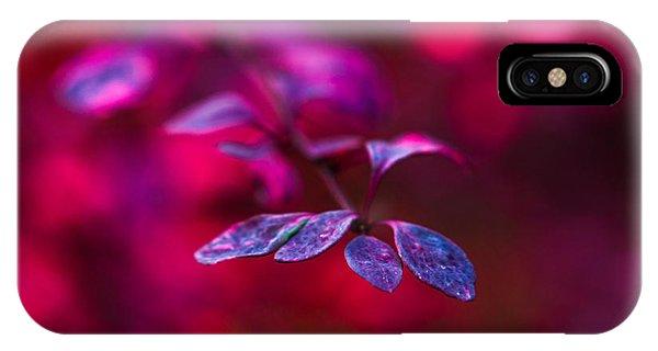 Violet Flame iPhone Case - Autumn Flames 5 - Square by Alexander Senin