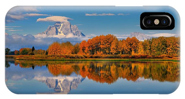 Autumn Foliage At The Oxbow IPhone Case