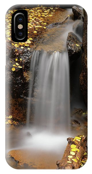 Autumn Gold And Waterfall IPhone Case