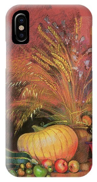 Protein iPhone Case - Autumn Harvest by Claire Spencer