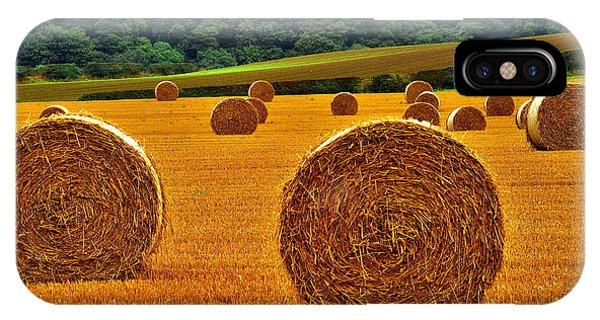 Autumn Hay Bales IPhone Case