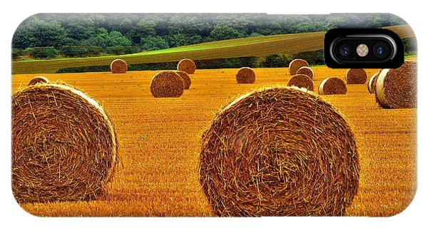 Autumn Hay Bales IPhone Case