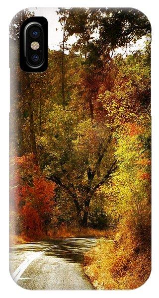 Autumn Highway IPhone Case